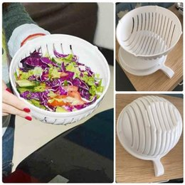 Wholesale Easy Chopper - Wholesale- 60 Second Salad Cutter Bowl Easy Salad Fruit Vegetable Washer And Cutter Quick Salad Maker Chopper