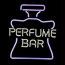 "Wholesale Perfume Bar Bottle - Perfume Bar Bottle Logo Neon Sign College Handmade Real Glass Tube Store Bar KTV Club Advertising Display Art Neon Signs 14""X17"""
