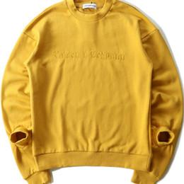 Wholesale Gray Decking - Gosha Rubchinskiy T-Shirts Men Long sleeves Cnopt Dover ROWA Flame Hip Hop Board Deck Supremo Kanye Gosha hoodie Sweatshirts