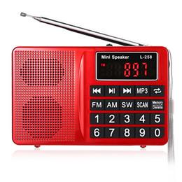 2019 radios de control de volumen Altavoz original al por mayor-L - 258 FM / AM / SW Radio multibanda Altavoz Reproductor de MP3 Pantalla LCD Compatible con FM Control de volumen del altavoz radios de control de volumen baratos