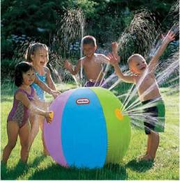 letras grandes de globos de aluminio Rebajas Verano inflable Agua Spray Globo juego al aire libre en el agua Pelota de playa Niños Juguete Bola CCA5822 30pcs