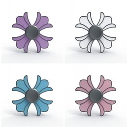 Wholesale Toy Mini Crown - Four Leaves Fidget Spinner Metal Crown Point Glue Hand Spinners EDC Desks Focus Reliever Press Fingers Toy Creative 9bz B