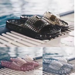 Wholesale Band Collection - 2017 new Summer Women Girl Sandals Rihanna x FENTY x Jelly Slides Black White Pink Collection Shoes