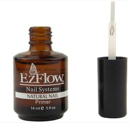Wholesale Ezflow Nails - Wholesale- EM--99 New 2Pc 14ML Ezflow Natural Nails Primer Nail Art Tool Products Acrylic Base Coat For UV GEL & Acrylic Tips