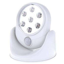 Wholesale Sound Sensor Activates Led - 6V 7 LEDs Cordless Motion Activated Sensor Light Lamp 360 Degree Rotation Wall Lamps White Porch Light For Indoor and Outdoor