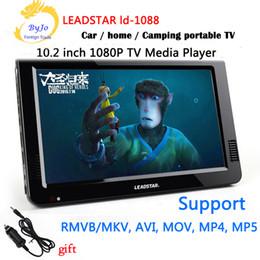 Wholesale mini car tv - LEADSTAR LD-1088 10.2 inch Mini TV LED Portable tv HD display Built in lithium battery Led TV HD Player Support HDMI VGA USB SD LCD car