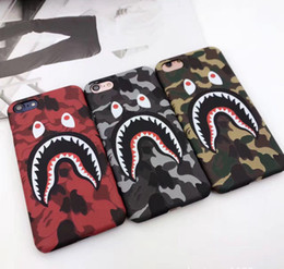 Wholesale Iphone 5s Case Cool - NEW Hot Top Quality Cool Fashion Shark Case For iPhone 7 6 6s Plus Shark Army Phone Case Cover For iPhone 6S 5 5S SE Matte