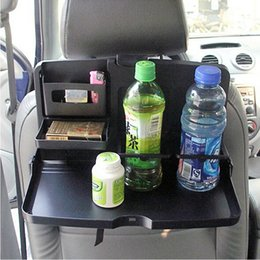 Wholesale Tray Holder For Drinks - Wholesale- Universal Folding Auto Car Back Seat Table Drinks Cup Tray Holder Stand Desk Black Multifuntional Trays For Car