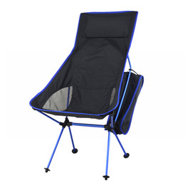 Wholesale Camping Beach Chair - Wholesale- Lightweight Fishing Chair Professional Folding Camping Chair Portable Lengthen Fishing Chair For Picnic BBQ Beach Party