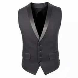 Wholesale Preppy Cardigan - Slim Fit Mens Suit Vest Summer Autumn Korean Sleeveless Suit Vest Men 2017 Cardigan Waistcoat Men Business Casual Formal Groom Vests