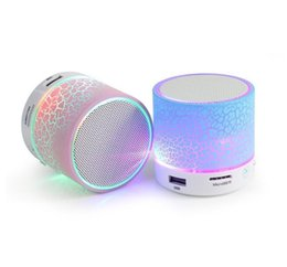 Wholesale Portable Speakers For Android Phones - Mini Bluetooth Speaker Wireless Speaker LED A9 Subwoofer Stereo HiFi Player for IOS Android Phone DHL Free Shipping