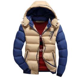 Wholesale Ultralight Parka - Wholesale- 2016 New Fashion Ultralight Winter Warm Hooded Jacket Men Cotton Clothing Thick Zipper Slim Men's Jackets Parkas Plus Size W