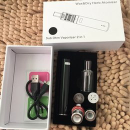 Wholesale Ego Dry Herb Chamber - The kiln ceramic chamber ceramic donut coil atomizer and whorl coil tank Glass tips with ego 2200mah battery for dry herb & wax