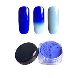 Wholesale- 1 g / scatola Pigmento Termocromico Cambiamento del colore del chiodo Polvere Tempera Gradiente Gel per unghie Decorazione Smalto per unghie 12 Colori da