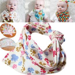 Vêtements en zigzag en Ligne-Nouveaux enfants Bibs ou animaux de compagnie coton vêtements coton écharpe triangulaire foulard bébé bavoirs Burp Clothes I086
