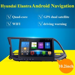 Wholesale Car Gps Back Cameras - 10.2 inch Car PC Android Car DVD Player with AM FM,BT GPS, support DVR,OBD2,back up camera,Car Audio Radio stereo for Hyundai Elantra 2016