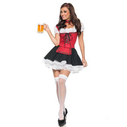 Wholesale Beer Promotion - Maid Clothing Europe And The United States Cosplay Beer Promotion Uniforms Lace Color Game Elastic Uniform
