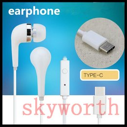 Wholesale Ear Buds Microphone - P9 Type-C Headset In Ear Type C Earphone Line Control HIFI Stereo Ear Buds With Microphone Headset For letv mobile iPhone 7