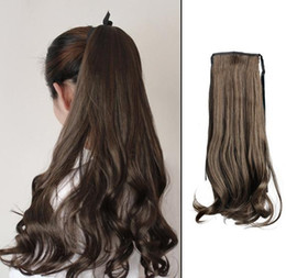 Wholesale Long Curly Ponytail Extensions - Fashion Attractive Long Curly Wavy Ponytail Pony Hair Hairpiece Extension