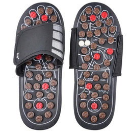 Wholesale Stoned Shoes - Foot Massage Slippers Health Shoe Sandal Massages Reflexology Feet Elderly Healthy Care Product Rest Pebble Stone Massager Shoes