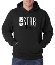 Ropa de laboratorio online-Wholesale- ropa de marca de moda STAR S.T.A.R. Labs Hombres sudaderas con capucha Sudaderas 2016 otoño invierno cálido polar de alta calidad con capucha hombres S-2XL