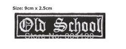 "Wholesale Patches Sewn - 3.5"" OLD SCHOOL Classic Motorcycle Biker Metal Rock Punk retro sew applique iron on patch Biker Vest Patch Wholesale Free Shipping"