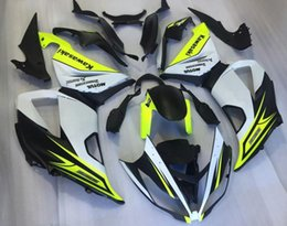 Wholesale Kawasaki Zx6r Fairings Black Green - Injection Fairings For Kawasaki Ninja 636 ZX-6R ZX6R 13 14 15 2013 2014 2015 ABS Motorcycle Fairing Kit Body Kits matte green Black New