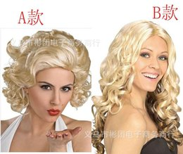 Wholesale Very Long Curly Hair Wigs - Di ramon Europe and the United States the new beige masquerade very long hair short hair curly hair fashion wig