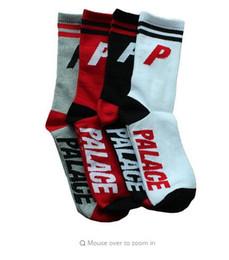Wholesale Huf Socks White - 2017 Men Fashion Street Brand Cotton Palace Socks USA Skateboard Hip Hop Streetwear Black Swag Summer Socks Happy Winter Sox