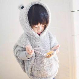 Wholesale Kids Panda Hoodie - Wholesale- winter sweatshirt for girls cartoon hoodies kids winter outerwear cute thicken panda children hot sell tops
