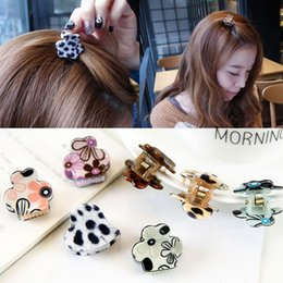 Wholesale Hairpin Hair Accessory Leopard - New 2017 Baby new mini cute Leopard hair claws girls leopard hair claw plastic hair child clips hairpins barrettes accessories free shipping