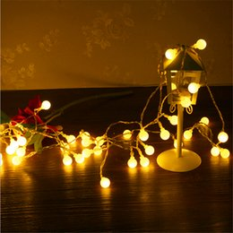 Wholesale Wholesale Halloween Outdoor Decorations - 10M led string lights 100led ball AC220V 110V holiday wedding patio decoration lamp Festival Christmas lights outdoor lighting