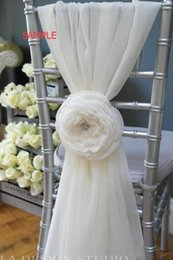 Wholesale Multi Chiffon Flowers - Link For Custom Made Chiffon 3D Flower Chair Sashes Romantic Vintage Beautiful Chair Covers Cheap Wedding Supplies