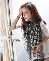 Wholesale Men Houndstooth Scarf - Wholesale-170*80cm 2016 Korean women winter scarf houndstooth printed voile scarves lady fashion apparel & accessaries