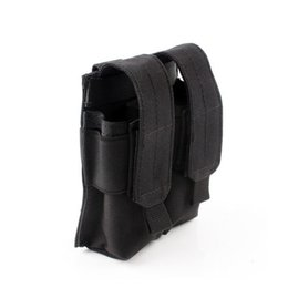 Wholesale Tactical Vest Bags - 2 Colors The Double Pistol Magazine Molle Pouch Tactical Vest Pouch Waist Bag Flashlight Mag Pouch