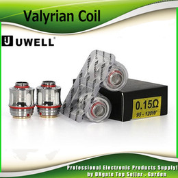 Wholesale Original Quad - Original Uwell VALYRIAN Coil Head 0.15ohm 95W-120W Dual Legged Quad Replacement Coils For 5ml VALYRIAN Tank Atomizer 100% Genuine 2231014