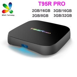 Wholesale Dual Band 3g - T95R Pro Android Box S912 Octa-core 3G 32G Android 6.0 Streaming Tv Box 2.4G 5G Dual band WiFi Bluetooth KDI 1000M Media Player