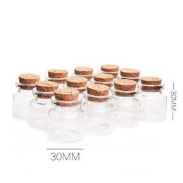 Бутылочки с мини-дрейфом онлайн-Мини стеклянные бутылки с пробковым деревом 10 мл прозрачные стеклянные бутылки банки флаконы ясно дрейф бутылка 30x30mm контейнер для хранения