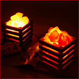 Wholesale Resin Tables - HOT resin Himalayan crystal salt lamp table lamp light bedroom adornment night light lampsof the head of a bed