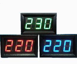 Wholesale Voltmeter Green - YB27A Digital Electrical AC60-300V  AC60V-500V Voltmeter Voltage Display For Home Use Blue Red Green LED volt detector