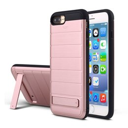 Wholesale Armor Mask - For Iphone 7 case TPU&PC mask stand card cell phone case for iphone 7plus Top quality fashion armor shockproof 6 6s case