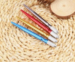 Wholesale Tattoo Cross Hand - Tattoo Pen Eyebrow Pencil Embroidered Eyebrow Tattoo On Hand Traditional Chinese Realistic Rainting Thickness Width Cross Rest