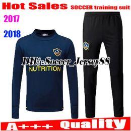 Wholesale Galaxy Jackets - 2017 2018 Trainingsuit kits tracksuit LA Galaxy 17 18 long sleeve pants jacket soccer Jersey GERRARD ZARDES GIOVANI KEANE football shirts