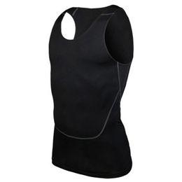 Wholesale Men Workout Shirt - Wholesale- Chic Men Compression Base Line workout Fitness Sleeveless Shirt Vest Breathable Top S-2XL