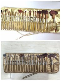Wholesale Makeup Gift Sets Wholesale - HOT NEW Makeup Brushes Nude 3 24 piece Professional Brush sets Gold and Chocolate package+gift