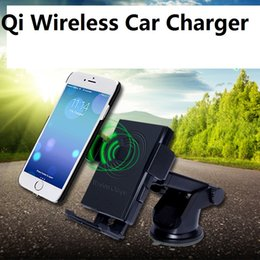 Wholesale Uk Degrees - Qi Wireless Car Charger 360 Degree Rotating Phone Holder Mount AIR VENT Charging Pad For Samsung Galaxy S7 Edge S6 10PC IN RETAIL