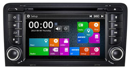 Wholesale Dvd A3 - 7 Inch 2 Din Car Radio DVD Player Stereo With Dual Core GPS Bluetooth Radio EX-TV For Audi A3 (2003-2012)