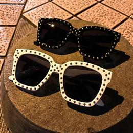 Wholesale Pops Fashion Sunglasses - New Women's Sunglasses Retro trend Luxury Brand design Women Men sunglasses Vintage Rivet Glasses Oculos De Sol Feminino POP Unisex Sunglass
