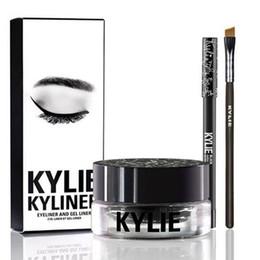 Wholesale Color Eyeliner Gel - Kylie Kyliner Kit Kylie Kyliner Eyeliner and Gel Liner Kit Brown Black Dark Bronze chameleon bronze
