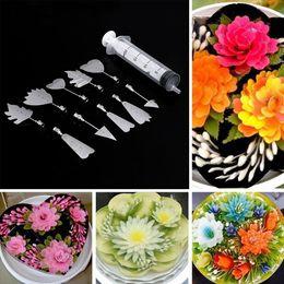 Wholesale 3d Jelly Cake - Russian Nozzles Cake Decorating Tool Jelly Cake Jello Aart Gelatin Tools 10Pcs 3D Jelly Art Tools Pudding Nozzle Syringe Set